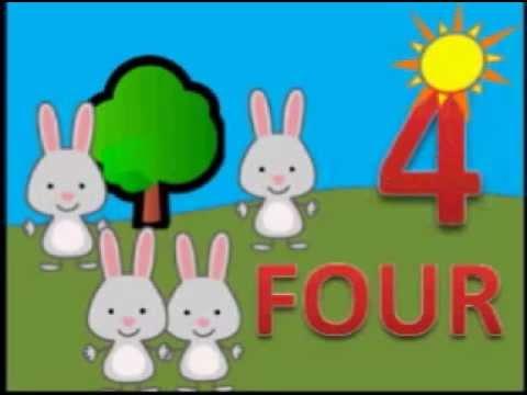 La cancion de los numeros en ingles del 1 al 5 para niños de guardería. BBTV1
