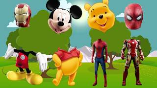 Mickey Mouse Clubhouse Iron Man Collection Finger Family Nursery Rhymes Lyrics More