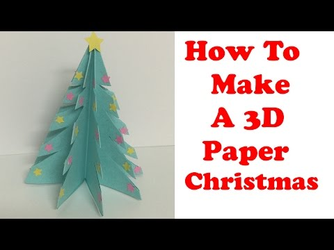 How To Make A 3D Paper Christmas Tree! - by BluePearl