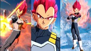 Super Saiyan God Vegeta vs Broly | Dragon Ball Legends | Japanese and English Dub