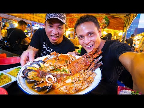 Xxx Mp4 GIANT LOBSTER TOM YUM Insane Thai Street Food At Night Market In Bangkok Thailand 3gp Sex