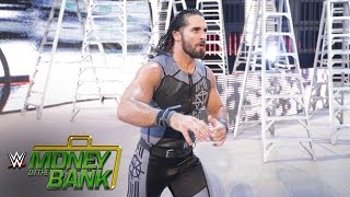 Seth Rollins heads to the ring for his battle with Roman Reigns: WWE Money in the Ban..