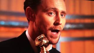 Tom Hiddleston Golden Globe Acceptance Speech