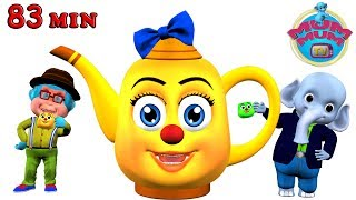 I Am A Little Teapot, Wheels on the bus, Incy Wincy Spider & more Popular Nursery Rhymes for Kids