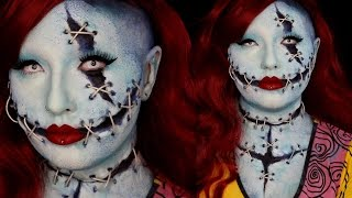 Sally Nightmare Before Christmas Special FX Halloween Makeup Tutorial
