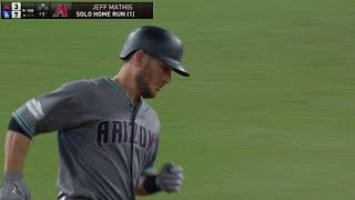 ARI@LAD Gm1: Mathis drives a solo home run to left