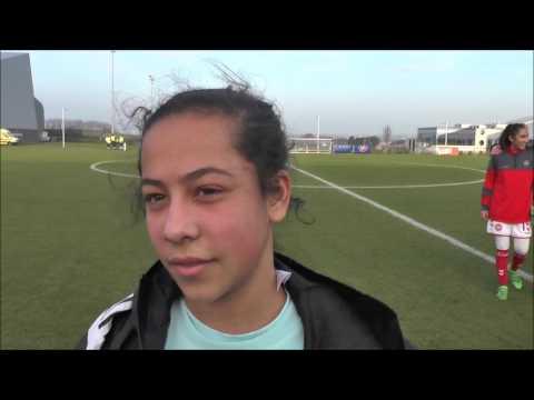 Morgane Aelen na Belgian Red Flames U17 – Denemarken U17 op 12.02.2017
