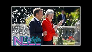 Macron puts the boot in after May's Brexit breakfast blunder