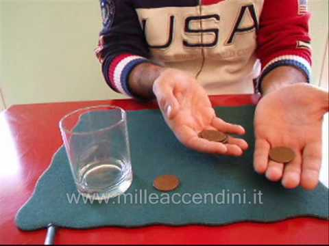 Spiegazione monete nel bicchiere tutorial magia commenta e vota