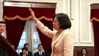 Taiwan's Tsai takes office as hostile Beijing looks on