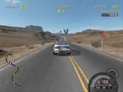 Need For Speed Pro Street Gameplay Geforce 8600gt Fatal1ty