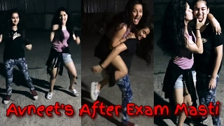 Avneet Kaur After Exam Party with Her Friends