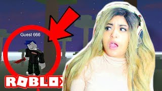 I SAW GUEST 666 IN A ROBLOX GAME!! | Creepy Games in Roblox