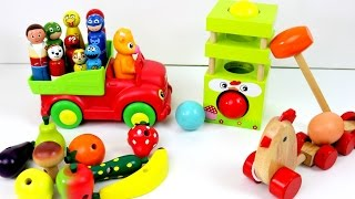 Best Baby Learn Toys Colors For Preschool Children! Paw Patrol Farm Wooden Toys Animals Fruits Veg