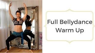 Full beginner bellydance warm up - let's get sweaty!
