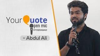 'Hisab Kya Hai Mohabbat Ka' by Abdul Ali   Hindi Shayari & Ghazal   YQ - Hyderabad (Open Mic 2)