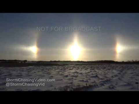 Amazing time lapse video of the Sun Dogs on the horizon - 1/3/2017