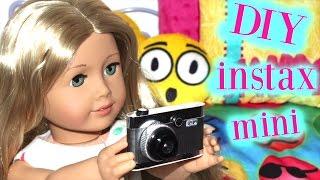 Doll instax mini Camera | DIY American Girl Doll Craft