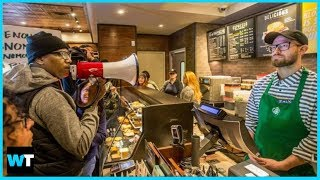 Is Starbucks Racist? Protesters Shut Down Store Where Black Men Arrested   What's Trending Now!