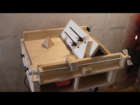 Homemade Table Saw Sledge Part 4 Jig to build Tetrahedrons and Pyramids