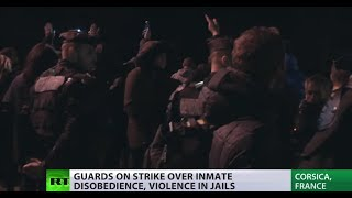 Riot police fire tear gas not at inmates, but guards, at Corsica prison