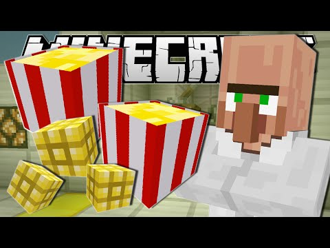 Minecraft MOVIE NIGHT SNACKS Popcorn Machine Custom Command