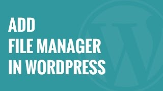 How to add a FTP like File Manager in WordPress with WP File Manager