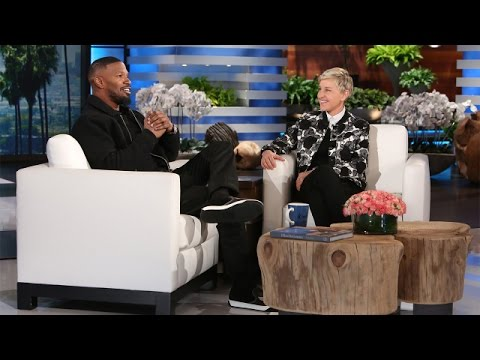Jamie Foxx and Ellen Ring in the New Year