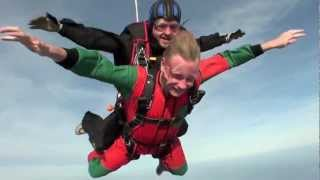 A wild parachute jumping from Denmark. Like a hollywood movie