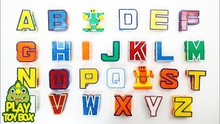Learning English Alphabet ABC AtoZ  for kids with Transforming  Alphabet Robot Toys