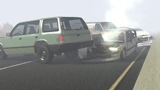 BeamNG Drive - Highway Fog Pileups (Highway Crashes) #9 •ShowMik