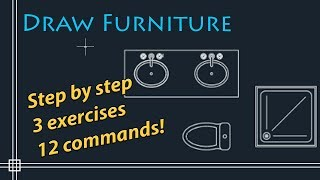 Autocad 2018 - How to draw furniture to floor plan