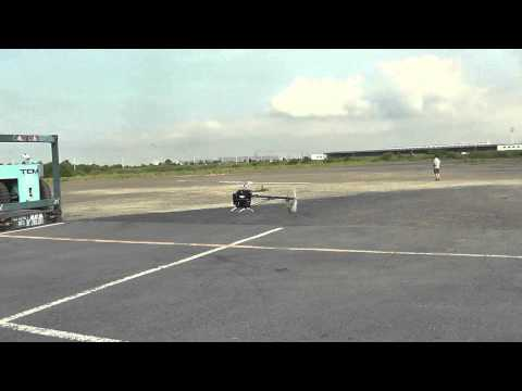 2013 7 21 ALIGN APS GYRO T REX800 Test and Clash