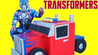 TRANSFORMERS THE LAST KNIGHT OFFICAL TRANSFORMING OPTIMUS PRIME TRUCK HAULER