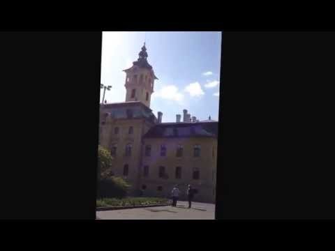Spring in Hungary music of the city hall Szeged városháza Szeged
