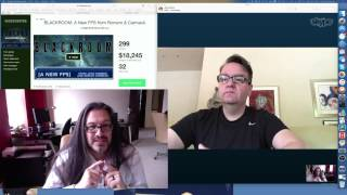John Romero and Adrian Carmack Livestream Blackroom Kickstart Announcement 26/04/2016