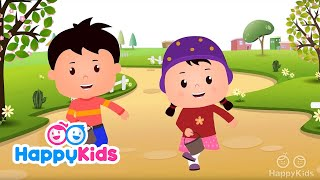 Jack And Jill - Nursery Rhymes For Kids And Children | Baby Songs | HappyKids