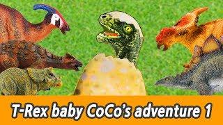 [EN] #75 T-Rex baby CoCo's adventure 1, kids education, dino animation, Collecta figureㅣCoCosToy