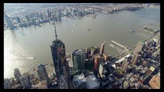 FLYNYON helicopter, 4K, DJI Osmo, One world Trade center up close FLYNYON helicopter, 4K