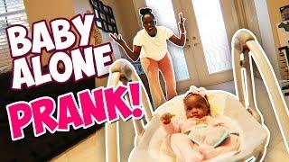 LEAVING Baby Home ALONE Prank On Eva