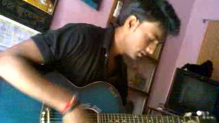 mon majhi re guitar cover by devdut