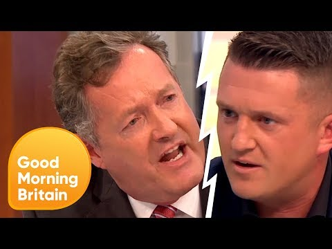 Xxx Mp4 Piers Confronts Tommy Robinson Over Controversial Muslim Comments Good Morning Britain 3gp Sex