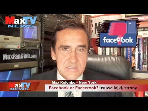 Facebook or FaceCrook? - Max Kolonko Mówi Jak Jest MaxTV