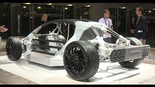 World's first 3D-printed supercar: Ultra-light 700hp Divergent Blade showcased at LA Auto Show