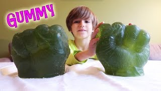 Giant GUMMY Hulk Hands - Do Not Mess With Daddy 5