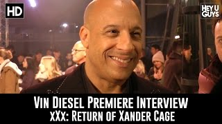 Vin Diesel Premiere Interview - xXx: Return of Xander Cage