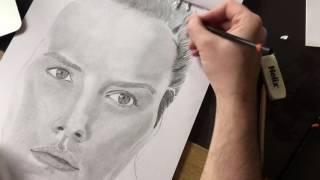 Drawing Daisy Ridley (Rey) Star Wars