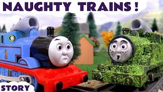 Thomas and Friends naughty Prank with Play Doh toys funny kids toy trains Tom Moss toy story