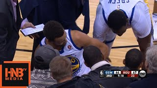 Stephen Curry & Trevor Ariza Collided / GS Warriors vs Rockets