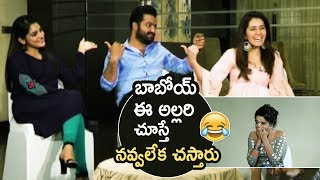 Jr NTR Making Super Hilarious Fun With Nivetha Thomas And Raashi Khanna | Jai Lava Kusa | TFPC